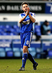 Cole Skuse of Ipswich Town applauds his former Bristol City fans at full time - Mandatory by-line: Robbie Stephenson/JMP - 30/12/2016 - FOOTBALL - Portman Road - Ipswich, England - Ipswich Town v Bristol City - Sky Bet Championship