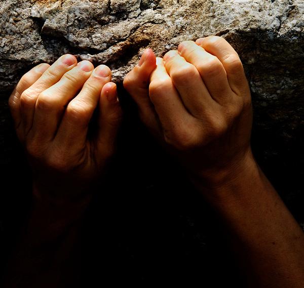 rock climbing grip