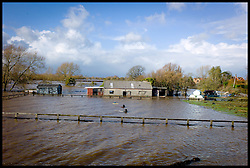 Burrowbridge, Somerset, United Kingdom.Sunday, 9th February 2014. peoples homes and fields flooded on  The Somerset Levels. The levels have been flooded since the start of 2014, with people being forced to leave their homes. Picture by Andrew Parsons / i-Images