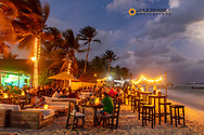 Beachfront at dusk in Playa del Carmen, Mexico