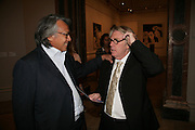 David Tang and Frank Cohen, Georg Baselitz, Royal Academy. 18 September 2007. -DO NOT ARCHIVE-© Copyright Photograph by Dafydd Jones. 248 Clapham Rd. London SW9 0PZ. Tel 0207 820 0771. www.dafjones.com.