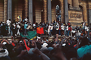 ( Nelson Mandela speaks to a crowd on the Grand Parade from the City Hall in Cape Town the day he was released from prison on 11 February 1990. )<br /> <br /> Photograph &copy; nic bothma