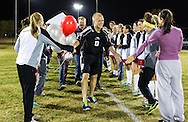 October 28, 2013: The Oklahoma Christian University Eagles soccer teams honor their seniors between the last home soccer games of the season on the campus of Oklahoma Christian University.