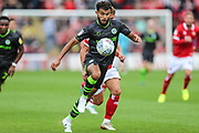 Forest Green Rovers Dominic Bernard(3) runs forward during the EFL Sky Bet League 2 match between Walsall and Forest Green Rovers at the Banks's Stadium, Walsall, England on 10 August 2019.