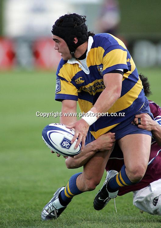 Colin Bourke during the BOP v Southland NPC match at Rotorua International Stadium, Rotorua, New Zealand on Saturday 02 October, 2004.<br />PHOTO: Hannah Johnston/PHOTOSPORT