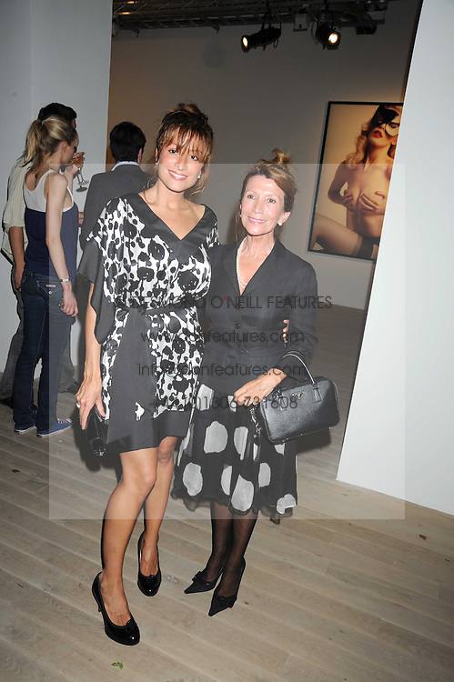 Left to right, REBECCA LOOS and her mother ELIZABETH LOOS at the Quintessentailly Summer Party at the Phillips de Pury Gallery, 9 Howick Place, London on 9th July 2008.<br /><br />NON EXCLUSIVE - WORLD RIGHTS
