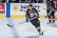 KELOWNA, CANADA - SEPTEMBER 9: Braydyn Chizen #22 of Kelowna Rockets skates against the Kamloops Blazers on September 9, 2016 at Prospera Place in Kelowna, British Columbia, Canada.  (Photo by Marissa Baecker/Shoot the Breeze)  *** Local Caption *** Braydyn Chizen;