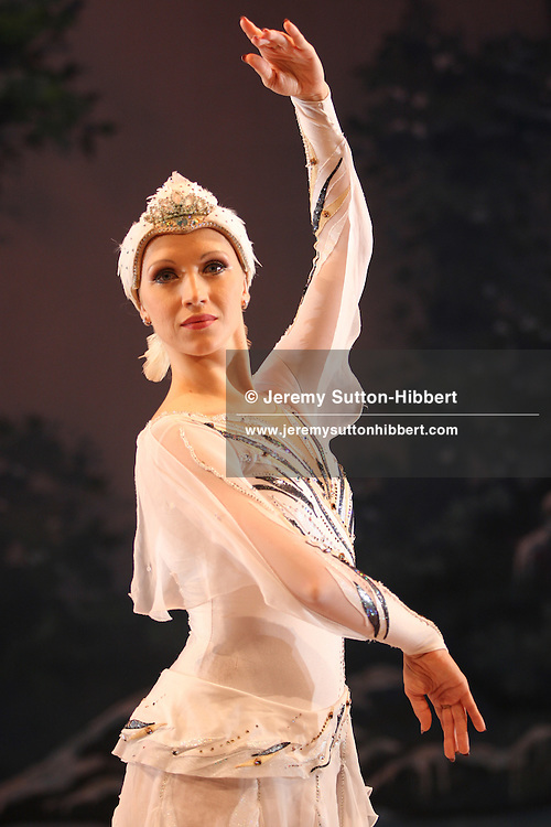 Olga Sharutenko, Russian, ice skater with The Imperial Ice Stars, in costume of 'Odette' from 'Swan Lake', Tokyo, Japan, Tuesday, Sept. 4th,  2007