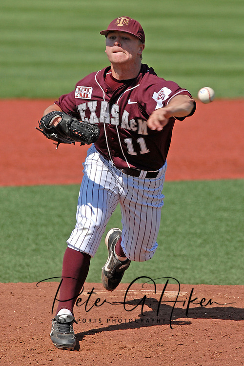 Texas A&M pitcher Jason Meyer came in for relief against Kansas State at Tointon Stadium in  Manhattan, Kansas, May 13, 2007.  K-State defeated the 11th ranked Aggies 11-6.