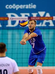 02-10-2013 VOLLEYBAL: WK KWALIFICATIE MANNEN NEDERLAND - ISRAEL: ALMERE<br /> Nederland wint met 3-0 van Israel / Gijs Jorna<br /> ©2013-FotoHoogendoorn.nl