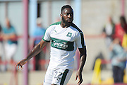 Plymouth Argyle's David Ijaha during the Pre-Season Friendly match between Weymouth FC and Plymouth Argyle at the Bob Lucas Stadium, Weymouth, United Kingdom on 23 July 2016. Photo by Graham Hunt.
