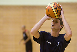 Luka Lapornik during practice session of Slovenian National Basketball team during training camp for Eurobasket Lithuania 2011, on July 12, 2011, in Arena Vitranc, Kranjska Gora, Slovenia. (Photo by Vid Ponikvar / Sportida)