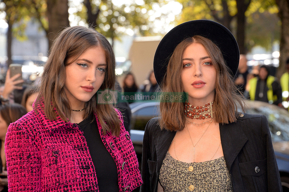 Sama Abu Khadra and Haya Abu Khadra arriving at the Chanel show as a part of Paris Fashion Week Ready to Wear Spring/Summer 2017 on October 4, 2016 in Paris, France. Photo by Julien Reynaud/APS-Medias/ABACAPRESS.COM