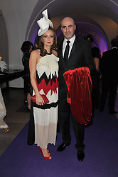 LUCY YEOMANS and JASON BROOKS at The Surrealist Ball in aid of the NSPCC in association with Harpers Bazaar magazine held at the Banqueting House, Whitehall, London on 17th March 2011.