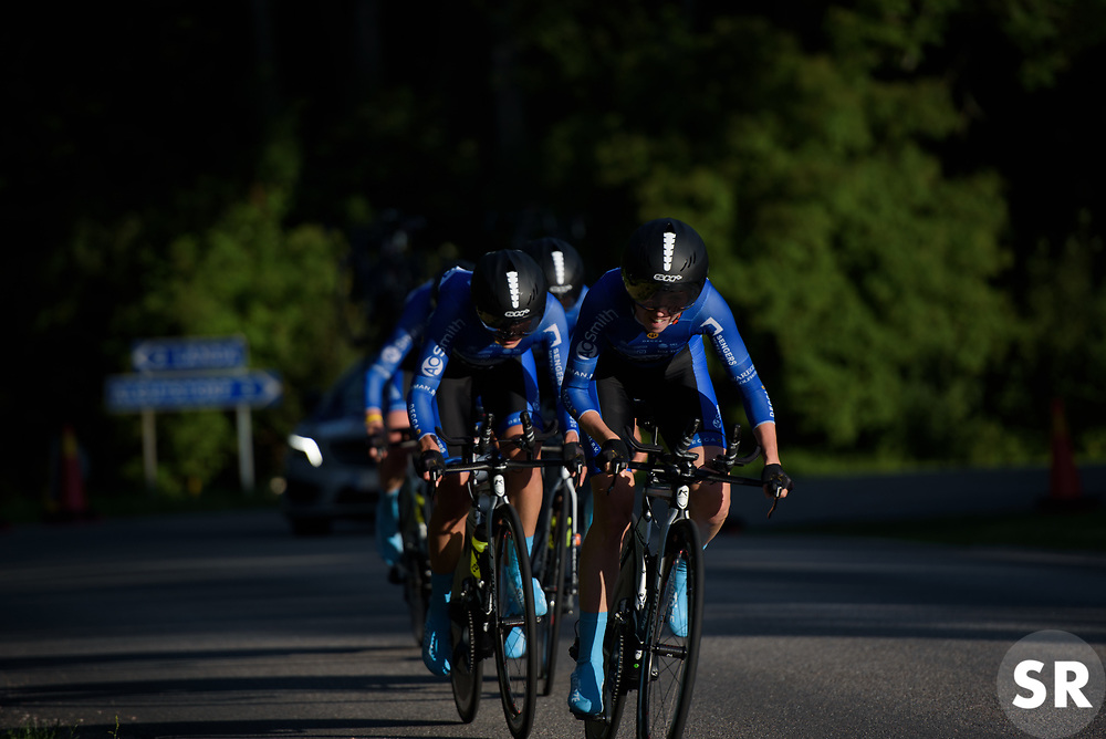 Tetyana Riabchenko leads Lensworld at the Crescent Vargarda - a 42.5 km team time trial, starting and finishing in Vargarda on August 11, 2017, in Vastra Gotaland, Sweden. (Photo by Sean Robinson/Velofocus.com)