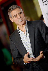 Hollywood star George Clooney was treated in hospital on Tuesday for minor injuries after a scooter accident in Sardinia, Italy on July 10, 2018 ------------ George Clooney attends the premiere of The Weinstein Company's August: Osage County during AFI Fest at TCL Chinese Theatre in Los Angeles, CA, USA, on November 8, 2013. Photo by Lionel Hahn/ABACAPRESS.COM