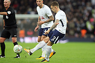 Kieran Trippier of Tottenham Hotspur takes a free kick. EFL Carabao Cup, 4th round match, Tottenham Hotspur v West Ham United at Wembley Stadium in London on Wednesday 25th October 2017.<br /> pic by Steffan Bowen, Andrew Orchard sports photography.