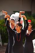 Traditional flamenco dancers during the Festival of San Sebastian in San Juan, Puerto Rico.