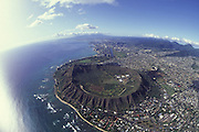 Diamond Head , Waikiki, Oahu, Hawaii<br />