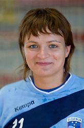 Portrait of Katja Cerenjak of Slovenian Handball Women National Team, on June 3, 2009, in Arena Kodeljevo, Ljubljana, Slovenia. (Photo by Vid Ponikvar / Sportida)