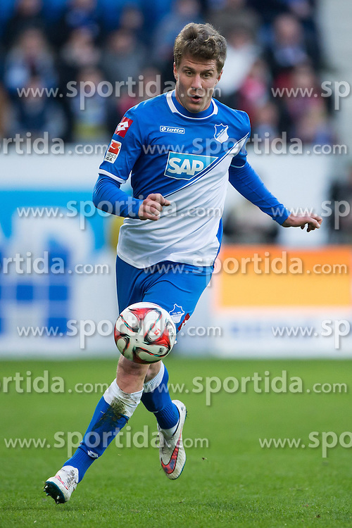 28.02.2015, Rhein Neckar Arena, Sinsheim, GER, 1. FBL, TSG 1899 Hoffenheim vs 1. FSV Mainz 05, 23. Runde, im Bild Sven Schipplock (TSG 1899 Hoffenheim), Freisteller, Aktion /Action // during the German Bundesliga 23rd round match between TSG 1899 Hoffenheim and 1. FSV Mainz 05 at the Rhein Neckar Arena in Sinsheim, Germany on 2015/02/28. EXPA Pictures &copy; 2015, PhotoCredit: EXPA/ Eibner-Pressefoto/ Neis<br /> <br /> *****ATTENTION - OUT of GER*****