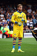 Port Vale&rsquo;s Goalkeeper Chris Neal in action. Skybet football league one match, Crewe Alexandra v Port Vale at the Alexandra Stadium in Crewe on Saturday 13th Sept 2014.<br /> pic by Chris Stading, Andrew Orchard sports photography.