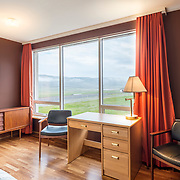 Interior photography Hotel Latrabjarg Iceland, Westfjorden.<br /> Beautifull hotel near the cliffs with large Puffin colony and breathtaking sunset.