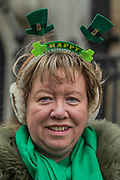 the London St Patrick's Day parade from Piccadilly to Trafalgar Square.