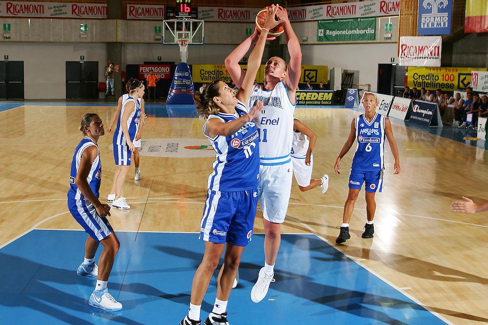 DESCRIZIONE : Bormio Torneo Internazionale Femminile Olga De Marzi Gola Italia Grecia <br /> GIOCATORE : Kathrin Ress <br /> SQUADRA : Nazionale Italia Donne <br /> EVENTO : Torneo Internazionale Femminile Olga De Marzi Gola <br /> GARA : Italia Grecia Italy Greece <br /> DATA : 24/07/2008 <br /> CATEGORIA : Tiro <br /> SPORT : Pallacanestro <br /> AUTORE : Agenzia Ciamillo-Castoria/S.Silvestri <br /> Galleria : Fip Nazionali 2008 <br /> Fotonotizia : Bormio Torneo Internazionale Femminile Olga De Marzi Gola Italia Grecia <br /> Predefinita :