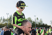 Young FGR fan during the EFL Sky Bet League 2 match between Forest Green Rovers and Grimsby Town FC at the New Lawn, Forest Green, United Kingdom on 5 May 2018. Picture by Shane Healey.