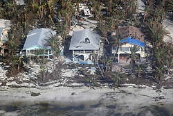 September 14, 2017 - Duck Key, Florida, U.S. - Damaged homes in Big Pine Key after Hurricane Irma hit the Florida Keys. (Credit Image: © Sun-Sentinel via ZUMA Wire)