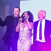 Sheyla Bonnick performs at the Grand Final MISS USSR UK 2019 at Hilton Hotel Park Lane on 27 April 2019, London, UK.