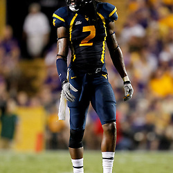 Sep 25, 2010; Baton Rouge, LA, USA; West Virginia Mountaineers cornerback Robert Sands (2) on the field during during the second half against the LSU Tigers at Tiger Stadium. LSU defeated West Virginia 20-14.  Mandatory Credit: Derick E. Hingle