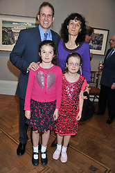 JAMIE & TESSA LUMLEY he is the son of Joanna Lumley and their daughters Left, ALICE and right, EMILY at a reception to unveil the Limited Centenary Edition of Sir George Frampton's statuette of Peter Pan in aid of the Moat Brae Charity held at The Fine Art Society, 148 New Bond Street, London on 1st May 2012.