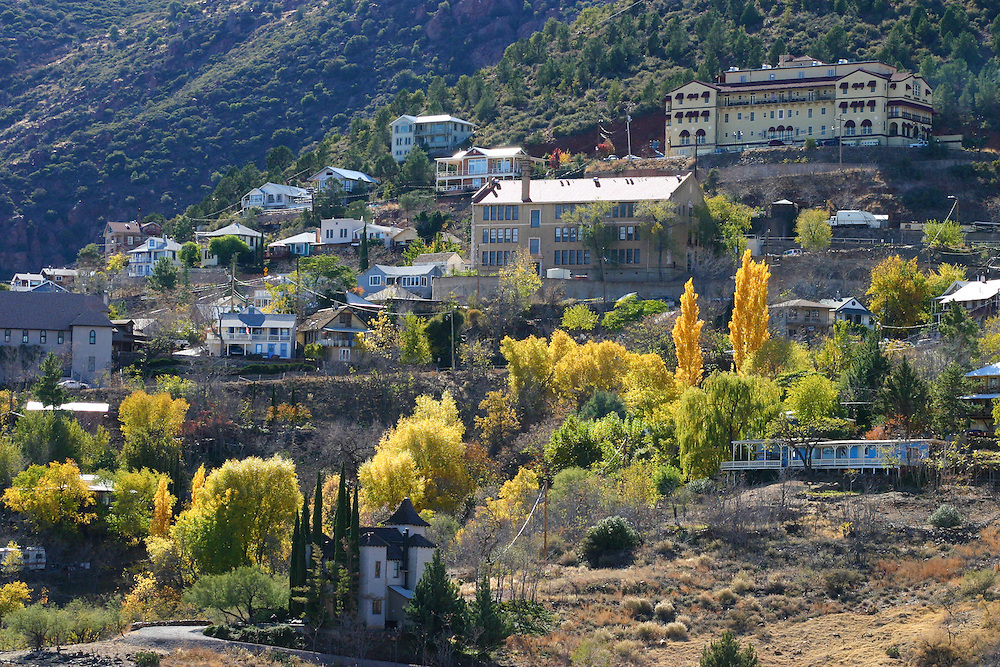 Fall colours in the hillside town of  Jerome Arizona