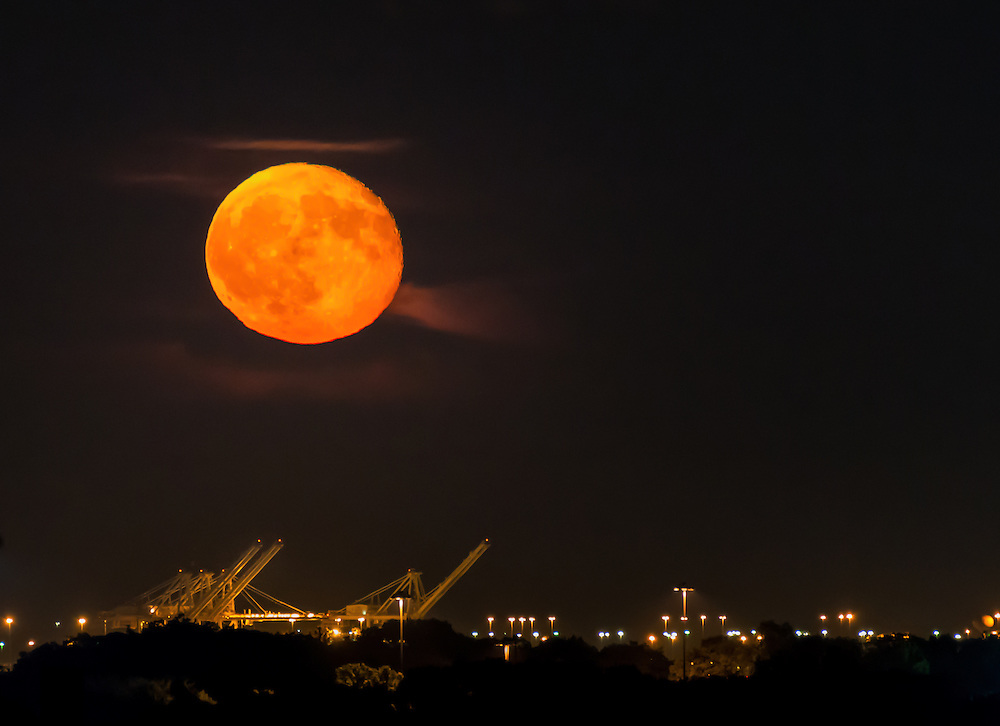 Moon over Baltimore. ©Geoffrey S. Baker