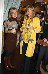 Left to right, MISS SAHAR HASHEMI and PRINCESS CHANTAL OF HANOVER at a jewellery party hosted by Osanna Visconti and Pia Marocco at Allegra Hick's shop, 28 Cadogan Place, London on 25th November 2004.<br />