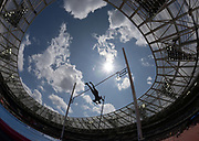 Jul 20, 2019; London, United Kingdom; Silhouette of Holly Bradshaw (GBR) during the women's pole vault at London Anniversary Games at London Stadium at  Queen Elizabeth Olympic Park.