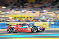 Francois Perrodo (FRA) / Emmanuel Collard (FRA) / Rui Aguas (PRT) #83 AF Corse Ferrari F458 Italia,  during Le Mans 24 Hr June 2016 at Circuit de la Sarthe, Le Mans, Pays de la Loire, France. June 19 2016. World Copyright Peter Taylor/PSP. Copy of publication required for printed pictures.  Every used picture is fee-liable. http://archive.petertaylor-photographic.co.uk