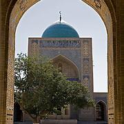 Through archway to inner courtyard of Kalon Medrassa, Bukhara