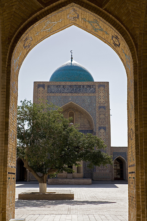 Through archway to inner courtyard of Kalon Medrassa, Bukhara