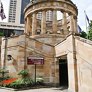 Brisbane's ANZAC War Memorial with eternal flame