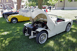 2018 Champagne British Car Festival held on Clover Lawn at David Davis Mansion in Bloomington IL<br /> <br /> Austin Healey