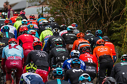 Peloton at C&ocirc;te de Stockeu during the 2019 Li&egrave;ge-Bastogne-Li&egrave;ge (1.UWT) with 256 km racing from Li&egrave;ge to Li&egrave;ge, Belgium. 28th April 2019. Picture: Pim Nijland | Peloton Photos<br /> <br /> All photos usage must carry mandatory copyright credit (Peloton Photos | Pim Nijland)