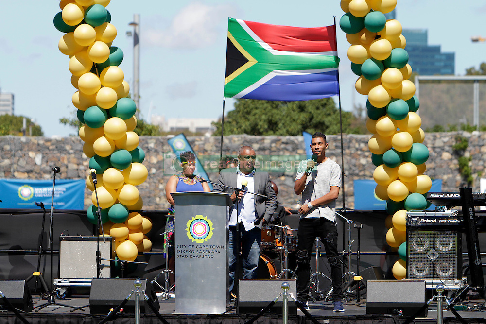 Monday 17th October 2016.<br /> Grand Parade & Greenpoint Athletics Stadium, Cape Town,<br /> Western Cape, South Africa.<br /> <br /> Cape Town Honours South African Olympic And Paralympic Heroes<br /> <br /> Olympic Champion and 400 Metre World Record Holder Wayde Van Niekerk speaks at Greenpoint Athletics Stadium.<br /> <br /> Cape Town honours the South African Olympic and Paralympic heroes during a special celebratory event held in Cape Town, Western Cape, South Africa on Monday 17 October 2016.<br /> <br /> Picture By: Mark Wessels / Real Time Images.