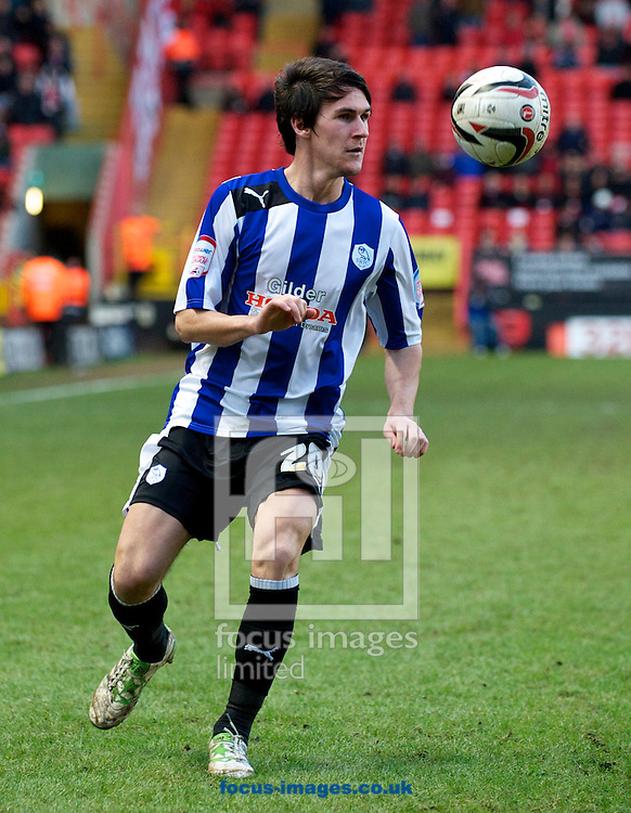 Picture by Alan Stanford/Focus Images Ltd +44 7915 056117.26/01/2013.Kieran Lee of Sheffield Wednesday during the npower Championship match at The Valley, London.