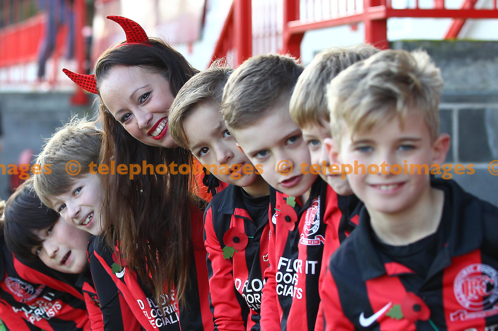 Young lads seen before the Sky Bet League 2 match between Crawley Town and York City at the Checkatrade.com Stadium in Crawley. October 31, 2015.<br /> James Boardman / Telephoto Images<br /> +44 7967 642437