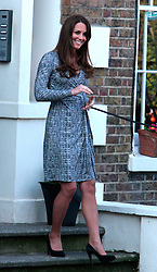 (UK RIGHTS ONLY) Catherine, Duchess of Cambridge visits Hope House, an Action on Addiction women's treatment centre in London, UK. 19/02/2013<br />