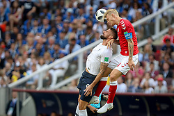 June 26, 2018 - Moscow, Vazio, Russia - Olivier Giroud and Simon Kjaer during the game between Denmark and France valid for the third round of group C of the 2018 World Cup, held at the Luzhniki Arena in Moscow in Russia. Denmark 0-0 France (Credit Image: © Thiago Bernardes/Pacific Press via ZUMA Wire)