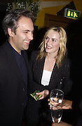 Kate Winslet and Sam Mendes. Uncle Vanya, Donmar Warehouse and afterwards at 1 Aldwych. 30 September 2002. © Copyright Photograph by Dafydd Jones 66 Stockwell Park Rd. London SW9 0DA Tel 020 7733 0108 www.dafjones.com